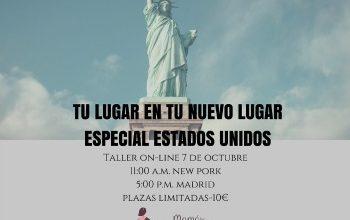 TALLER ON-LINE 7 DE OCTUBRE : Vivir en Estados Unidos
